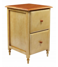 Office Star CC30 Letter Size File Cabinet in White and Cherry Veneer