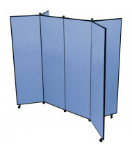 ScreenFlex 5 ft 9 in H 6 Panel Mobile Display Tower CDS606 (Shown in Blue)