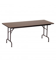 "Correll 60"" W x 24"" D x 29"" H Rectangular 0.75"" High Pressure Top Folding Table (Shown in Walnut)"
