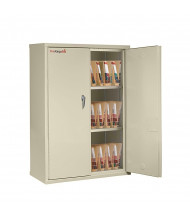 FireKing End-Tab Filing Storage Cabinet  (Shown in Parchment)