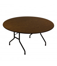 "Correll 48"" Round 0.75"" High Pressure Top Folding Table (Shown in Walnut)"