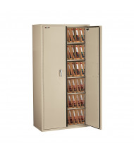 FireKing CF7236-MD End-Tab Filing Storage Cabinet - Shown in Parchment