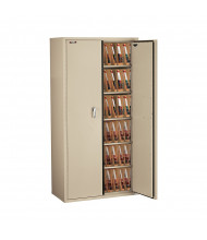 "FireKing Fireproof 72"" H End-Tab File Cabinet, Legal-Size (Shown in Parchment)"