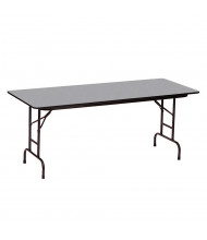 "Correll 96"" W x 30"" D Height Adjustable 22"" to 32"" Rectangular Melamine Folding Table (Shown in Granite)"