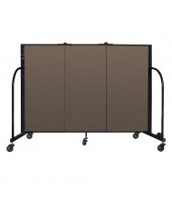"Screenflex Freestanding 48"" H Mobile Configurable Fabric Room Dividers (Shown in Walnut)"
