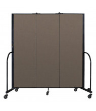 "Screenflex Freestanding 72"" H Mobile Configurable Fabric Room Dividers (Shown in walnut)"