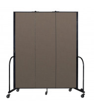 "Screenflex Freestanding 88"" H Mobile Configurable Fabric Room Dividers (Shown in Walnut)"