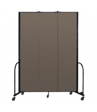 "Screenflex Freestanding 96"" H Mobile Configurable Fabric Room Dividers (Shown in Walnut)"