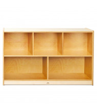 """Whitney Brothers 30"""" H 5-Section Classroom Storage Unit (Shown in Birch)"""
