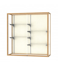 "Waddell Champion 2040 Series Aluminum Frame Wall Mountable Display Cases 48"" L (plaque back/champagne gold finish)"