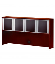 "Mayline Corsica CHG72 72"" W Hutch with Glass Doors (Shown in Sierra Cherry)"