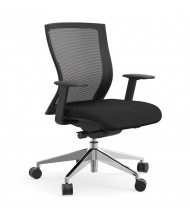Cherryman idesk Oroblanco Mesh-Back Fabric Mid-Back Task Chair (Shown in Black)