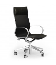 Cherryman idesk Curva Monza Black Leather High-Back Conference Chair