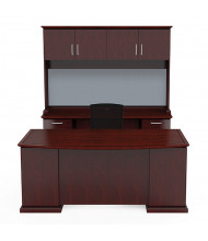 Cherryman Emerald EM-417N Office Desk Set (Shown in Cherry, Chair and Bulletin Board Not Included)