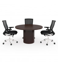 "Cherryman Jade 42"" Round Conference Table (Shown in Mahogany, Chairs Are Not Included)"