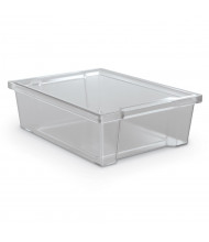 "Mooreco Essentials 10"" W x 14"" D x 4"" H Plastic Storage Tubs, 6-Pack (Shown in Clear)"