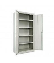 "Alera CM7218LG 36"" W x 18"" D x 72"" H Storage Cabinet in Light Grey, Assembled"