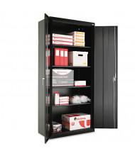 """Alera CM7818BK 36"""" W x 18"""" D x 78"""" H Storage Cabinet in Black, Assembled"""