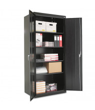 "Alera CM7824BK 36"" W x 24"" D x 78"" H Storage Cabinet in Black, Assembled"