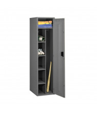 Tennsco Assembled Combination Steel Lockers - without Legs - Shown in Medium Grey