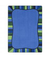 Joy Carpets Colorful Accents Rectangle Classroom Rug, Seaglass