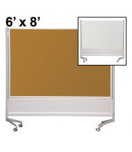 Best-Rite Evolution Projection Surface/Cork 6 x 8 D.O.C. Mobile Divider Reversible (Both Sides Shown)