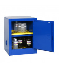 Eagle CRA-1904 Manual One Door Close Corrosives Acids Safety Cabinet, 4 Gallons, Blue