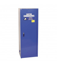 Eagle CRA-2310 Self Close One Door Corrosives Acids Safety Cabinet, 24 Gallons, Blue