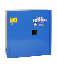Eagle CRA-32 Manual Two Door Corrosives Acids Safety Cabinet, 30 Gallons, Blue