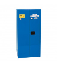 Eagle CRA-6010 Self Close Two Door Corrosives Acids Safety Cabinet, 60 Gallons, Blue