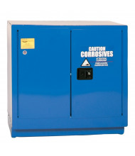 Eagle CRA-71 Manual Two Door Corrosives Acids Safety Cabinet, 22 Gallons, Blue