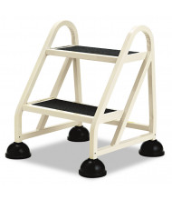 "Cramer 23"" H Two-Step Stop-Step Aluminum Ladder, Beige"
