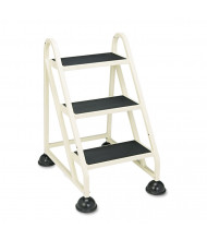 "Cramer 32-3/4"" H Three-Step Stop-Step Aluminum Ladder, Beige"