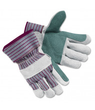 Memphis Economy Leather Palm Gloves, X-Large, Striped