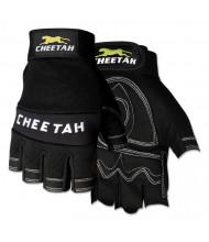 Memphis Cheetah 935CHFL Fingerless Gloves, Medium, Black