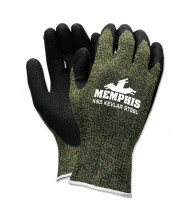 Memphis KS-5 Latex Dip Gloves, 13 gauge, Green Black, Small
