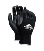 Memphis Economy PU Coated Work Gloves, Black, X-Large, 12 Pairs