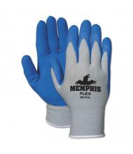 Memphis Flex Seamless Nylon Knit Gloves, Large, Blue/Gray, 12/Pair