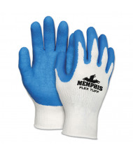 Memphis Flex Tuff Work Gloves, White/Blue, X-Large, 10 gauge, 12/Pair