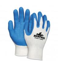Memphis Flex Tuff Work Gloves, White/Blue, Small, 10 gauge, 12/Pair