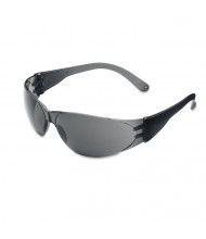 Crews Checklite Scratch-Resistant Safety Glasses, Gray Lens, 12/Pack