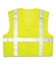 River City Garments Luminator Safety Vest, Lime Green w/Stripe, Medium
