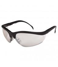 Crews Klondike Safety Glasses, Black Matte Frame, Clear Mirror Lens, 12 Pack