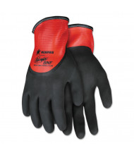 Memphis Ninja N96785 Full Nitrile Dip BNF Gloves, Red/Black, X-Small, 12/Pair