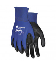 Memphis Ultra Tech Tactile Dexterity Work Gloves, Blue/Black, Large, 12/Pair