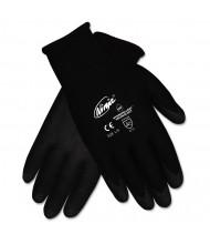 Memphis Ninja HPT PVC coated Nylon Gloves, X-Large, Black, 12/Pair