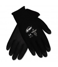Memphis Ninja HPT PVC coated Nylon Gloves, Small, Black, 12/Pair