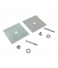 Vestil Car Stop Glue Down 2-Hole Anchor Plate CS-GD-2