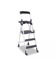 Cosco 3 Step Work Platform Step Stool, Aluminum/Resin, Black
