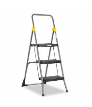 Cosco 3 Step Folding Step Stool, Steel, Gray